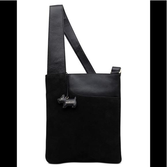 cde40716a71d Beautiful Blk Leather Radley London crossbody bag